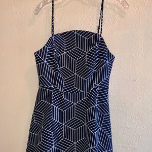 KEEPSAKE  black and white geometric dress